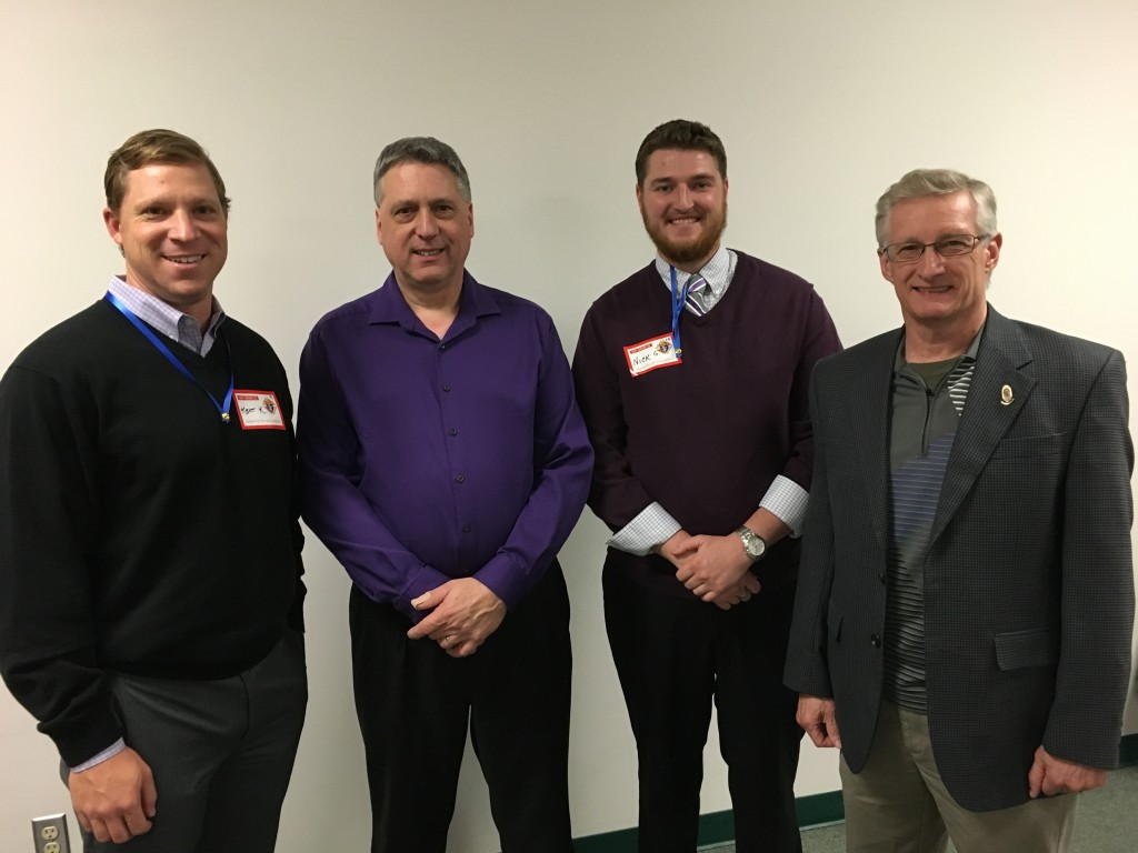 (L to R) Brother Knight Kent Krager, Grant Knight Dave Stumpf, Brother Knight Charles Gonderinger, 1st Year Trustee Dan Cincoski